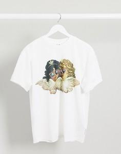 Белая футболка adidas Originals x Fiorucci angel-Белый