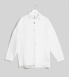 Белая свободная джинсовая рубашка COLLUSION-Белый
