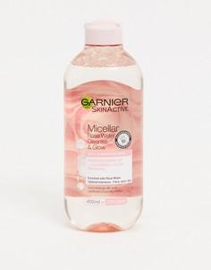 Очищающее мицеллярное средство с розовой водой Garnier, 400 мл-Бесцветный