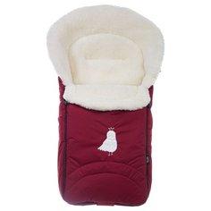 Конверт-мешок Nuovita Tundra Bianco меховой 90 см бордовый
