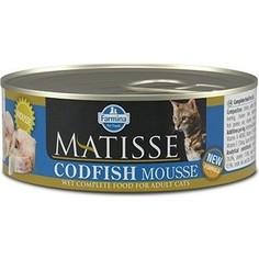 Консервы Farmina Matisse Coldfish Mousse Adult Cat мусс с треской для кошек 85г