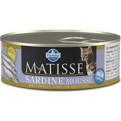 Консервы Farmina Matisse Sadine Mousse Adult Cat мусс с сардинами для кошек 85г