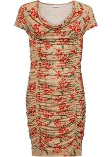Платье облегающее с драпировкой Bonprix