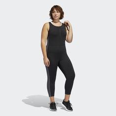 Комбинезон для фитнеса 3-Stripes (Plus Size) adidas Performance