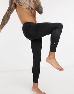 Черные тайтсы для бега из переработанного полиэстера New Look-Черный