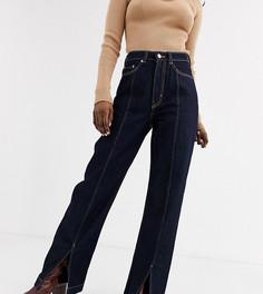Темно-синие джинсы из органического хлопка с завышенной талией Weekday-Синий