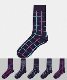 5 пар темно-синих носков Burton Menswear-Темно-синий