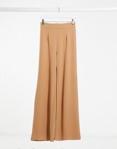 Серо-коричневые строгие брюки NaaNaa-Бежевый