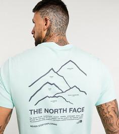 Зеленая футболка The North Face Peaks эксклюзивно для ASOS-Зеленый
