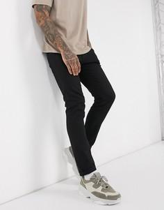Черные выбеленные джинсы зауженного кроя из органического хлопка Selected Homme-Черный