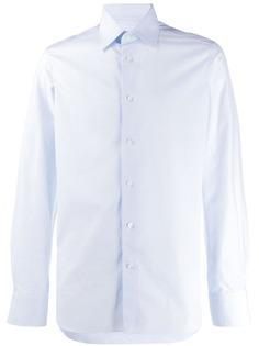 Ermenegildo Zegna однотонная рубашка с длинными рукавами