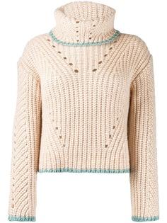 Fendi свитер крупной вязки