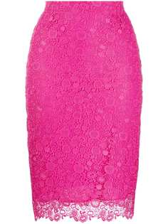 Pinko юбка-карандаш с кружевной вышивкой