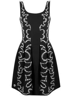 Philipp Plein коктейльное платье со стразами