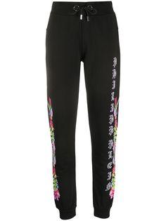 Philipp Plein спортивные брюки с цветочным принтом