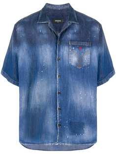 Dsquared2 джинсовая рубашка Maple Leaf