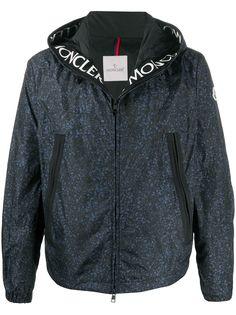 Moncler куртка с капюшоном и принтом