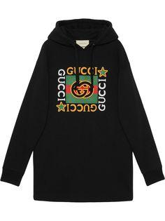 Gucci платье-худи с логотипом