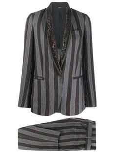 Brunello Cucinelli брючный костюм в полоску