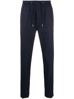 Paul Smith зауженные брюки с поясом на шнурке