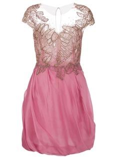 Marchesa коктейльное платье из органзы