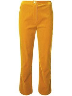 Chanel Pre-Owned бархатные укороченные брюки прямого кроя