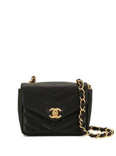 Chanel Pre-Owned сумка через плечо Travel Line с узором шеврон