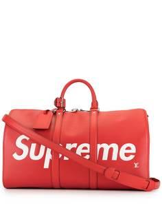 Louis Vuitton дорожная сумка Keepall Bandouliere 45 из коллаборации с Supreme