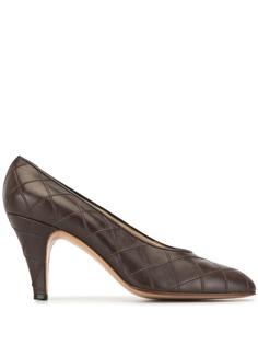 Chanel Pre-Owned стеганые туфли-лодочки