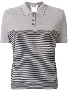 Chanel Pre-Owned рубашка-поло в полоску