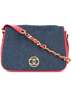 Chanel Pre-Owned стеганая сумка на плечо