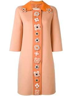 Fendi декорированное однобортное пальто