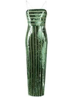 Galvan платье Stargaze с лифом-бандо
