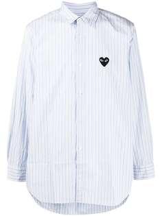 Comme Des Garçons Play полосатая рубашка с логотипом