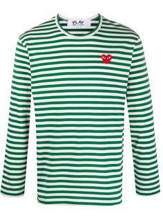 Comme Des Garçons Play полосатая футболка с длинными рукавами