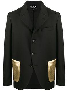Black Comme Des Garçons пиджак с контрастными карманами