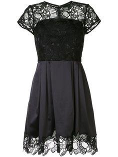 Paule Ka атласное коктейльное платье с цветочным принтом