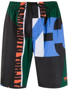 Y-3 плавки-шорты Noble в стиле колор-блок