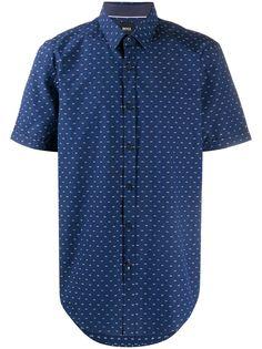 BOSS рубашка с короткими рукавами и принтом