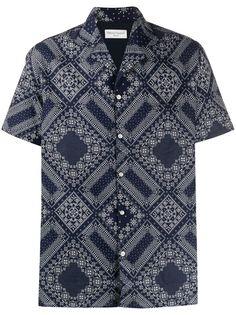 Officine Generale рубашка с короткими рукавами и принтом