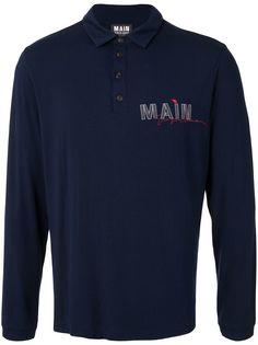 Giorgio Armani рубашка поло с длинными рукавами и логотипом