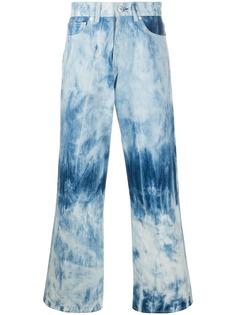 Our Legacy широкие джинсы с принтом тай-дай