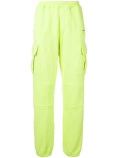 Off-White спортивные брюки с накладными карманом