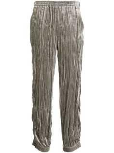 Emporio Armani зауженные брюки со складками
