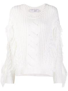 IRO свитер фактурной вязки с бахромой