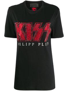 Philipp Plein декорированная футболка Kiss
