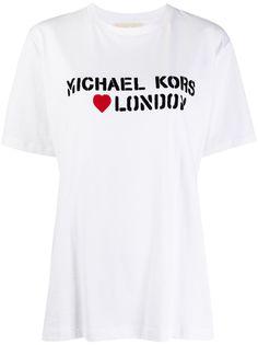 Michael Michael Kors футболка оверсайз с логотипом