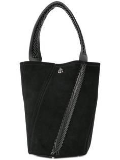 Proenza Schouler средняя сумка-ведро Hex с плетеным декором