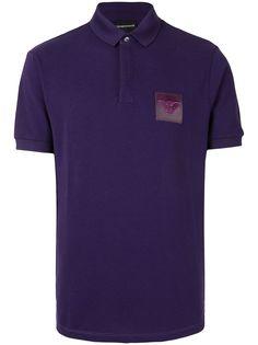 Emporio Armani рубашка поло с нашивкой-логотипом