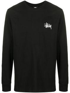 Stussy футболка с длинными рукавами и логотипом